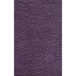 Hand-loomed Loft Stones Purple Wool Rug (8' x 11')