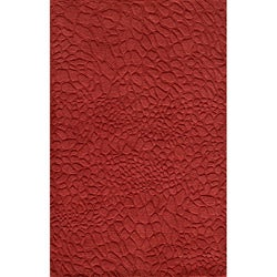 Hand-loomed Loft Stones Red Wool Rug (8' x 11')