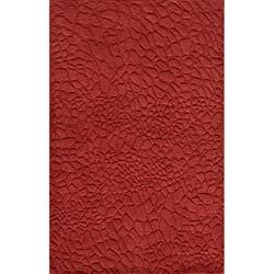 Hand-loomed Loft Stones Red Wool Rug (8' x 11')