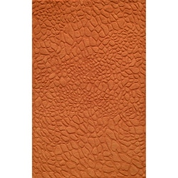 Hand-loomed Loft Stones Orange Wool Rug (8' x 11')