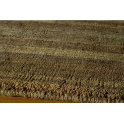 Hand-loomed Loft Brown Gabbeh Wool Border Rug (8' x 11')