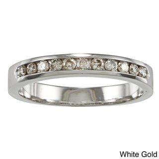 10k Gold 1/4ct TDW Diamond Channel-set Wedding Band
