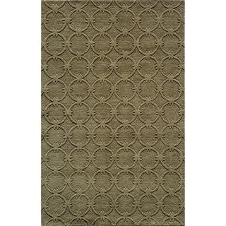 "Loft Links Sage Hand-Loomed Wool Rug (3'6"" x 5'6"")"