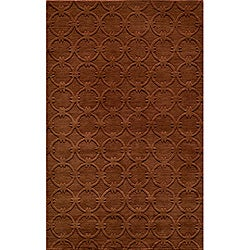 Hand-loomed Loft Links Copper Rug (3'6 x 5'6)