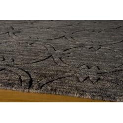 Hand-loomed Loft Links Charcoal Wool Rug (7'6 x 9'6)