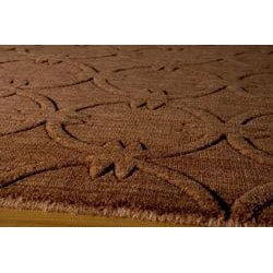 Hand-loomed Loft Links Copper Wool Rug (7'6 x 9'6)