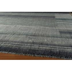 Hand-loomed Loft Blue Gabbeh Border Wool Rug (7'6 x 9'6)