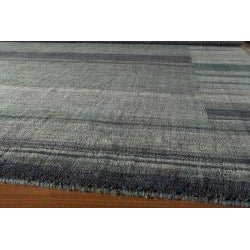 Hand-loomed Loft Blue Gabbeh Border Wool Rug (7'6 x 9'6)