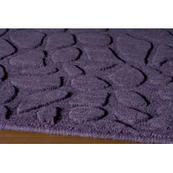 Hand-loomed Loft Stones Purple Wool Rug (7'6 x 9'6)
