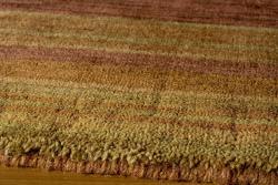 """Loft Rust Gabbeh Border Hand-Loomed Wool Rug (7'6"""" x 9'6"""")"""