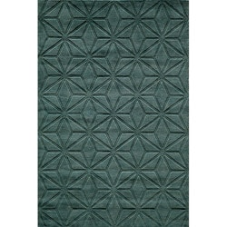 Hand-loomed Loft Blue Dimensions Wool Rug (7'6 x 9'6)