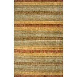 Hand-loomed Loft Multi Stripes Wool Rug (3'6 x 5'6)