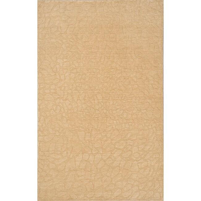 Loft Stones Beige Hand-Loomed Wool Rug (8' x 11')