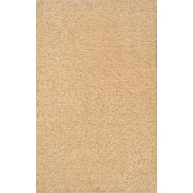 "Loft Stones Beige Hand-Loomed Wool Rug (7'6"" x 9'6"")"