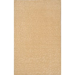 Hand-loomed Loft Stone Beige Wool Rug (7'6 x 9'6)