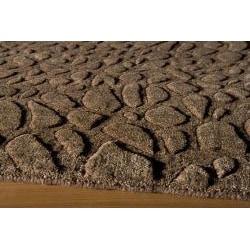Hand-loomed Loft Stones Brown Wool Rug (3'6 x 5'6)