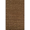Hand-loomed Loft Stones Brown Wool Rug (3'6 x 5'6)
