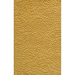 Hand-loomed Loft Stones Gold Wool Rug (8'0 x 11'0)