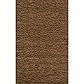 Hand-loomed Loft Stones Brown Wool Rug (7'6 x 9'6)