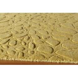 Hand-Loomed Loft Stones Gold Wool Rug (7'6 x 9'6)