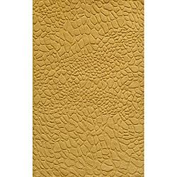 """Loft Stones Gold Hand-Loomed Wool Rug (7'6"""" x 9'6"""")"""