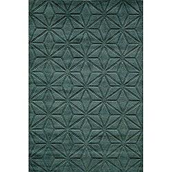 "Loft Blue Dimensions Hand-Loomed Wool Rug (9'6"" x 13'6"")"
