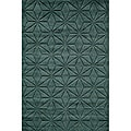 Hand-loomed Loft Blue Dimensions Wool Rug (9'6 x 13'6)