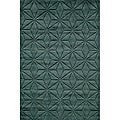 Hand-loomed Loft Blue Dimensions Wool Rug (2' x 3')