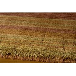 Hand-loomed Loft Rust Gabbeh Wool Border Rug (2' x 3')
