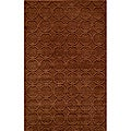 Hand-loomed Loft Links Copper Wool Rug (2' x 3')
