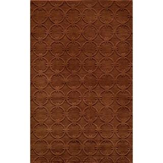 Loft Links Copper Hand-Loomed Wool Rug (2' x 3')