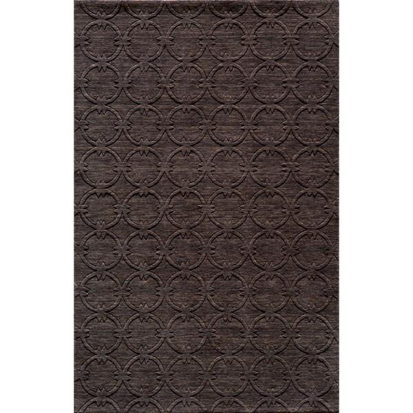 """Loft Links Charcoal Hand-Loomed Wool Rug (9'6"""" x 13'6"""")"""