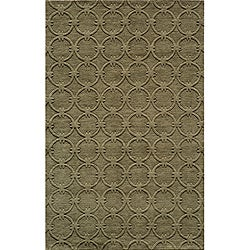 Hand-loomed Loft Links Sage Wool Rug (9'6 x 13'6)