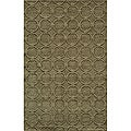 Hand-loomed Loft Links Sage Wool Rug (2' x 3')