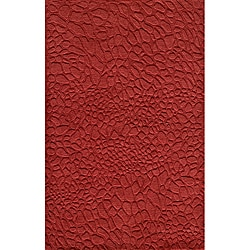 Hand-loomed Loft Stones Red Wool Rug (9'6 x 13'6)