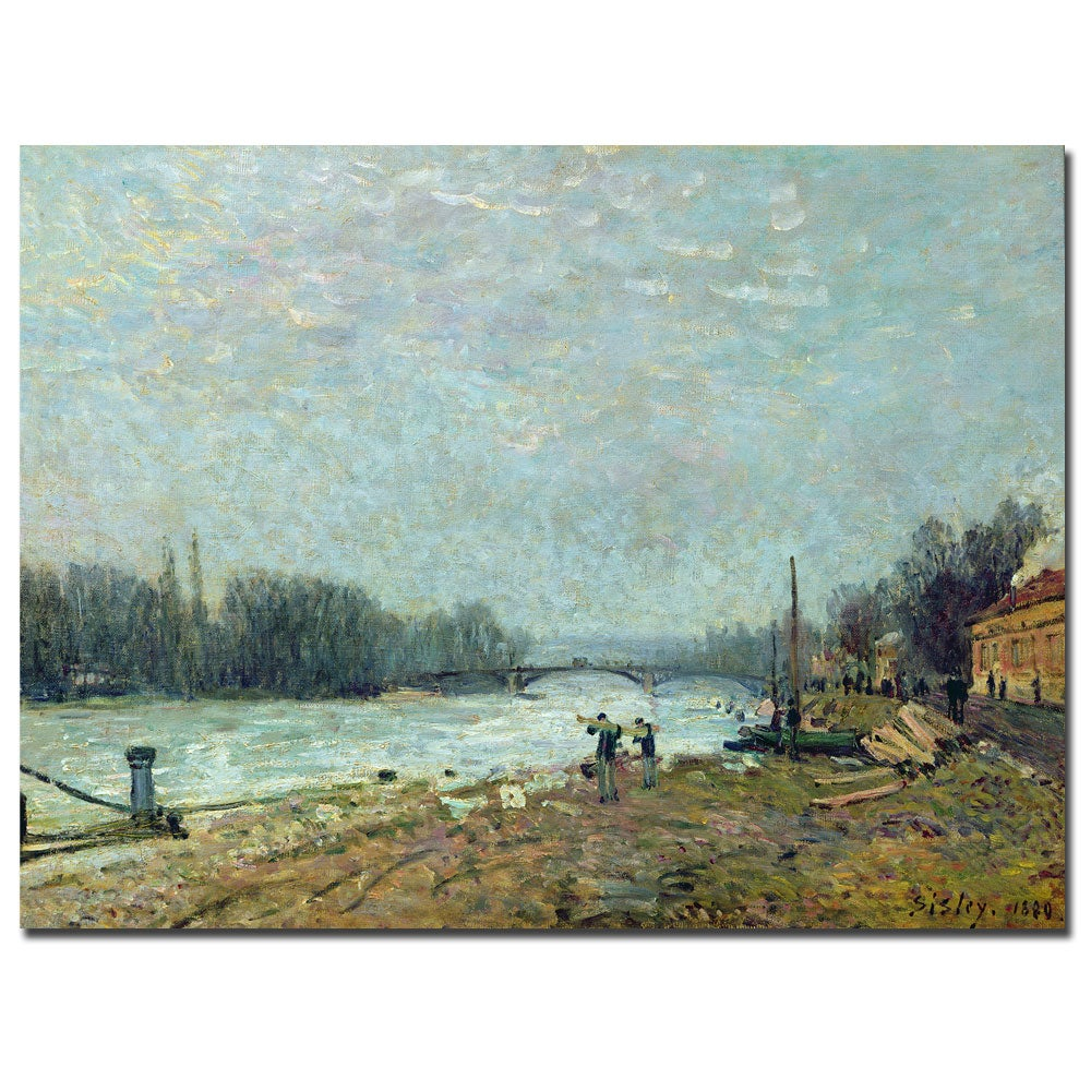 Alfred Sisley, 'The Thaw, 1880' Canvas Art