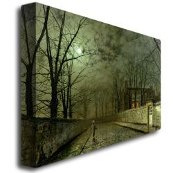 John Grimshaw 'Silver Moonlight 1880' Canvas Art