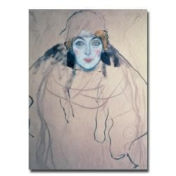 Gustav Klimt 'Head of a Woman' Giclee Print Canvas Art