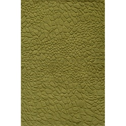 Hand-loomed Loft Stones Apple Green Wool Rug (8' x 11')
