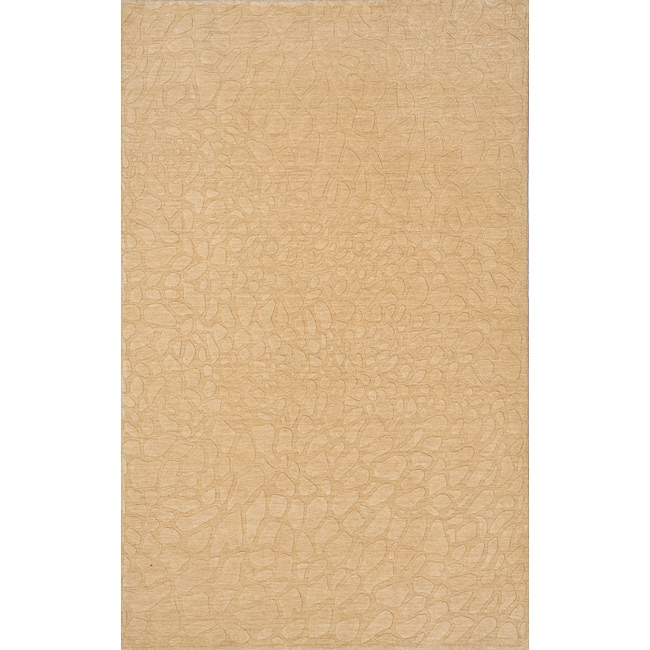 Loft Stones Beige Hand-Loomed Wool Rug (2' x 3')