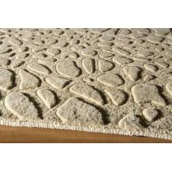Hand-loomed Loft Stones Beige Wool Rug (2' x 3')