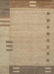 Hand-loomed Loft Gabbeh Beige Wool Rug (9'6 x 13'6)