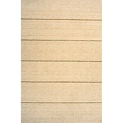Hand-loomed Loft Stripes Beige Wool Rug (2' x 3')