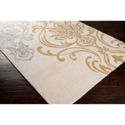 Candice Olson Hand-tufted Ivory Eurydice Damask Design Wool Rug (3'3 x 5'3)