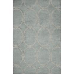 Candice Olson Hand-tufted Blue Colosseum Trellis Pattern Wool Rug (5' x 8')