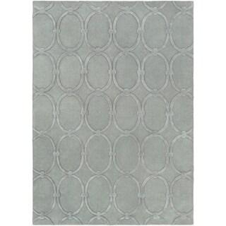 Candice Olson Hand-tufted Blue Colosseum Trellis Pattern Wool Rug (8' x 11')