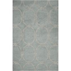 Candice Olson Hand-tufted Blue Colosseum Trellis Pattern Wool Rug (9' x 13')
