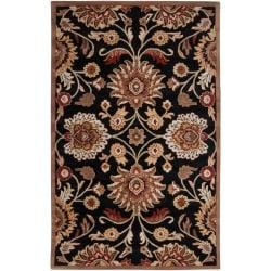 Hand-tufted Black Anvik Wool Rug (4' x 6')