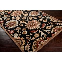Hand-tufted Black Anvik Wool Rug (6' x 9')