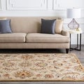 Hand-tufted Gold Alamosa Wool Rug (4' x 6')